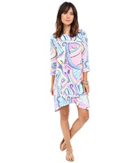 Lilly Pulitzer Edna Dress Multi Tile Wave Women's Dress