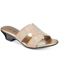 Karen Scott Esmayy Slide On Sandals Taupe