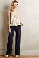 Anthropologie Pilcro Hyphen Chino Wide Leg Flares Navy 29 Pants