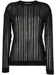 Maison Flaneur Crew Neck Knitted Sweater Black