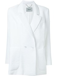 Rachel Comey Textured Double Breasted Blazer White