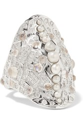 Venyx 18 Karat White Gold Multi Stone Ring