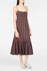 Brock Collection Women S Dahlia Striped Dress Boutique1 Red