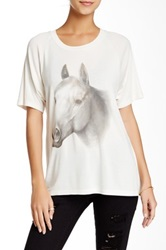 Wildfox Couture Horse Ride Lesson Tee White