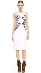 Cushnie Et Ochs Leopard Bustier Dress White Snow Leopard