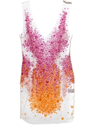 Amen Sheer Sequin Embellished Dress Pink And Purple