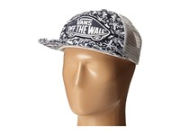 Vans Beach Girl Trucker Hat Original Navy True White Caps Black