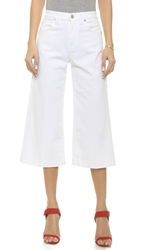 7 For All Mankind Culotte Jeans Runway White