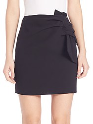 N 21 Knot Detail Mini Skirt Black