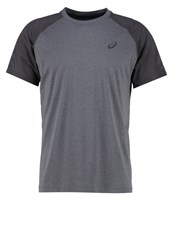 Asics Lite Show Sports Shirt Dark Grey Heather