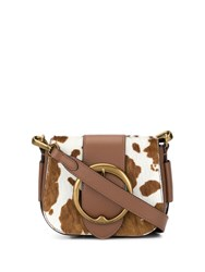 Polo Ralph Lauren Cow Spot Cross Body Bag Brown