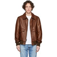 Schott Brown Lightweight Flight Jacket