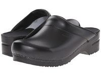 Sanita Original Karl Pu Open Black Men's Clog Mule Shoes