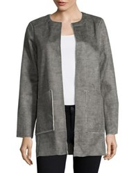 B Collection By Bobeau Faux Fur Anja Coat Taupe