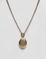 Asos Chain Locket Necklace Antique Gold