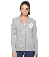 Life Is Good Daisy Go To Zip Hoodie Heather Gray Women's Sweatshirt