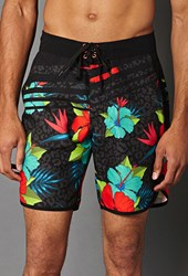 Forever 21 Tropical Print Swim Trunks