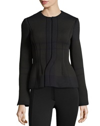 Philosophy Di Alberta Ferretti Textured Ponte Jacket W Zip Front Black