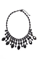 Tasha Women's Jewel Frontal Necklace Jet Black