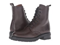 Frye Julie Combat Chocolate Soft Full Grain Women's Boots Brown