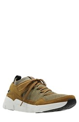Clarks Tri Active Gtx Sneaker Olive Leather