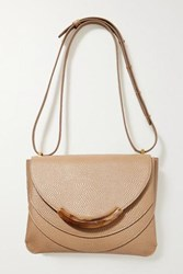 Wandler Luna Arch Lizard Effect Leather Shoulder Bag Beige