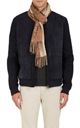 Colombo Men's Paisley Cashmere Scarf Brown