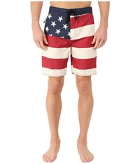 Tavik Flag Boardshorts Red Men's Swimwear