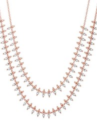Lucky Brand Sun Kissed Moments Semi Precious Rock Crystal Dual Tone Stranded Collar Necklace Gold