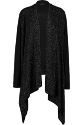 Donna Karan Sequin Embellished Cashmere Cardigan Black