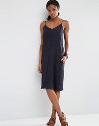 Asos Sundress With Button Through Detail Navy