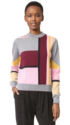 Markus Lupfer Lurex Stripe Grace Sweater Multi