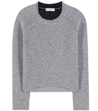 Balenciaga Metallic Sweater Silver