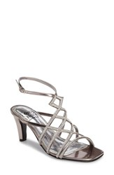 Love And Liberty Women's Sandy Embellished Sandal Pewter Faux Leather