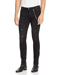 The Kooples Distressed Slim Jeans With Chain In Black