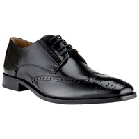 John Lewis Brosnan Leather Lace Up Brogues Black
