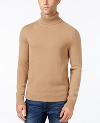 Michael Kors Men's Textured Cashmere Turtleneck Camel