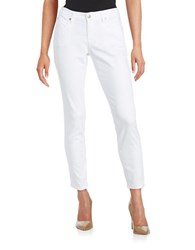 Eileen Fisher Slim Ankle Jeans White