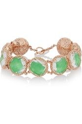 Larkspur And Hawk Olivia Button Rose Gold Dipped Topaz Bracelet