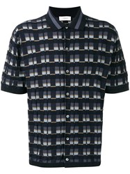 Pringle Of Scotland Patterned Polo Shirt Blue