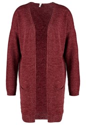 S.Oliver Denim Cardigan Bordeaux Melange Red