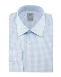 Ike Behar Check Woven Dress Shirt Blue