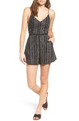 Lush Women's Cross Back Cami Romper