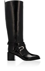 Sartore Women's Crisscross Buckle Strap Knee Boots Black