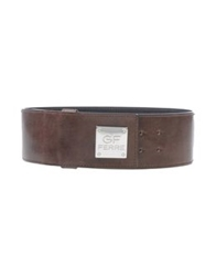 Gianfranco Ferre Gf Ferre' Belts Dark Brown