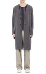 Robert Geller Men's The Duster Coat Grey