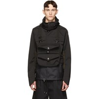 Junya Watanabe Black Laminated Water Repellant Jacket