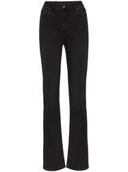 Rockins High Rise Long Leg Jeans Black