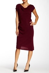 Cullen Sleeveless Side Ruched Cashmere Sweater Dress Red