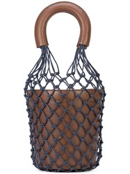 Staud Moreau Netted Bucket Bag Brown
